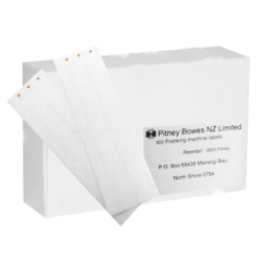 DM300/400 - Single White Franking Machine Labels